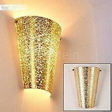 Wandlampe Zera aus Metall/Glas in Gold, moderne