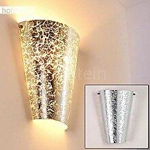 Wandlampe Zera aus Metall/Glas in Silber, moderne