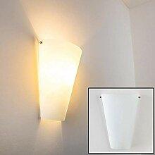 Wandlampe Zera aus Metall/Glas in Weiß, moderne
