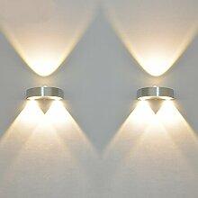 Wandleuchte 3W Halbrund LED Modern Flurlampe