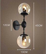 wandleuchte Afache Wand Lampe Retro - Glaskugel