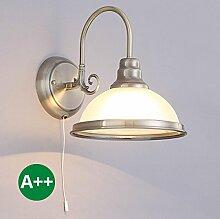 Wandleuchte Alicia dimmbar (Retro, Vintage, Antik) aus Glas u.a. für Wohnzimmer & Esszimmer (1 flammig, E27, A++) von Lampenwelt | Wandlampe, Wohnzimmerlampe