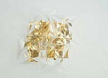 Wandleuchte aus Glas mit Facettiertem Kristall von