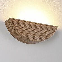 Wandleuchte aus Holz LED 6W | Holzleuchte E27 230V