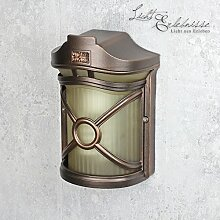 Wandleuchte außen/antik braun/Wandlampe