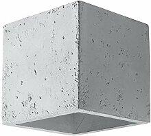 Wandleuchte Beton LED 5W   Betonwandleuchte eckig