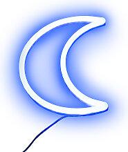 Wandleuchte blau mit Fernbedienung inkl. LED -