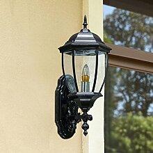 Wandleuchte draussen Ganglichter Korridor Lichter Balkonlampe wasserdicht Sonnenschutz Retro Wandleuchten Terrasse Villa A+ ( Color : Black.-26.5*41cm(10.4*94.9in) )