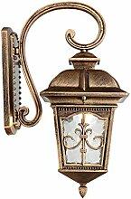 Wandleuchte draussen Ganglichter Korridor Lichter Balkonlampe wasserdicht Sonnenschutz Retro Wandleuchten Terrasse Villa A+ ( Color : Brass.-26*45cm(10.2*17.7in) )