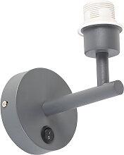 Wandleuchte dunkelgrau mit Schalter 1-Licht - Combi