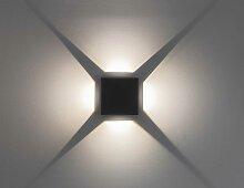 Wandleuchte, Effektleuchte, Beam 6, 4x3 W LED, Abstrahlwinkel 0 - 90 Grad, dunkelgrau 10657