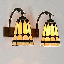 Wandleuchte, einfache farbige Glaswandlampe, Eisen