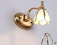 Wandleuchte Europäischen Stil Kupfer LED Spiegel