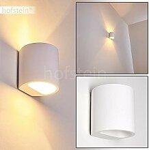 Wandleuchte Galpones aus Keramik weiß, Wandlampe