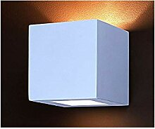 Wandleuchte Gips Lampe Wandlampe Gipslampe Quadrat