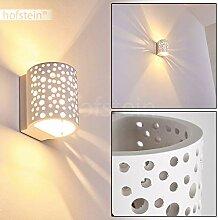 Wandleuchte Glenden aus Keramik weiß, Wandlampe