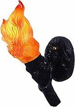 Wandleuchte Harz Fackel Wandlampe - Kreative