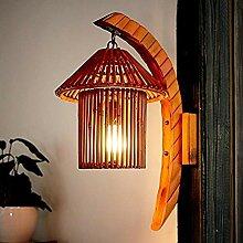 Wandleuchte,Heimtextilien Lampe Natürliche Bambus