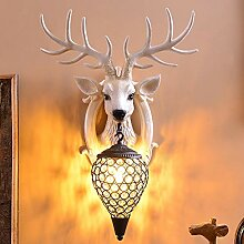 Wandleuchte,Hirschkopf Wandlampe Für Wohnzimmer