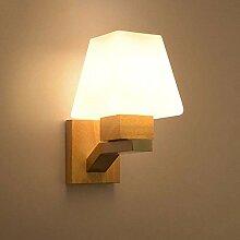 Wandleuchte Holz E27 Wandlampe für Wohnzimmer