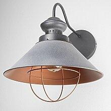 Wandleuchte Industrie/grau/Wandlampe Kupfer/Loft