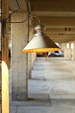 Wandleuchte Industrie/weiß/Wandlampe Kupfer/Loft