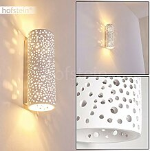 Wandleuchte Jabiru aus Keramik weiß, Wandlampe