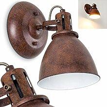 Wandleuchte Koppom, Wandlampe aus Metall in