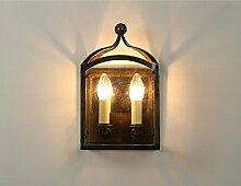 Wandleuchte kreative Glas Wandleuchte Gang Balkon Bügeleisen Glaskasten Dekoration Wand Lampe Mode (Farbe: A)