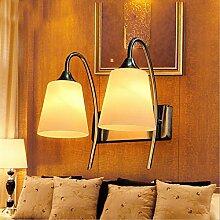 Wandleuchte kreative Wandleuchte moderne Schlafzimmer Bett home Glas Wandleuchte LED Flur double Wandleuchte