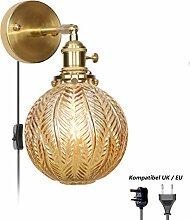 Wandleuchte Kupfer Retro, Wandlampe Bettlampe mit