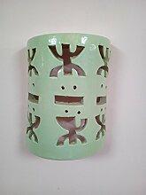 Wandleuchte Lampe Laterne aus Keramik Terrakotta