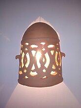 Wandleuchte Lampe Laterne in terracotta