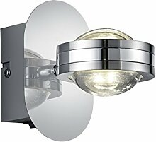 Wandleuchte LED 2x2,3W   Wandlampe in Chrom  