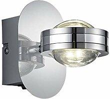 Wandleuchte LED 2x2,3W | Wandlampe in Chrom |