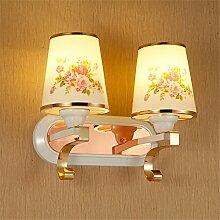 Wandleuchte led gold Wandleuchte bett Mode einfach und modern Bett doppel Kopf Wandleuchte qualitativ hochwertigen Lampen, 330mm
