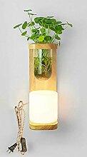 Wandleuchte LED Nachttischlampe Nordic Green Plant