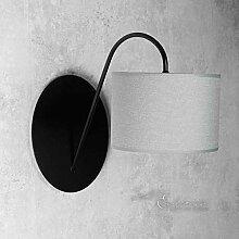 Wandleuchte Loft/im modern Stil/grau/Stoffschirm /