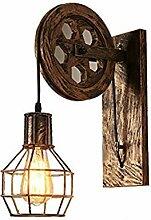 Wandleuchte Loft Industrie Wandlampe Retro Eisen