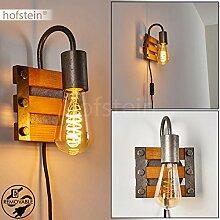Wandleuchte Mallard, Wandlampe aus Metall/Holz in