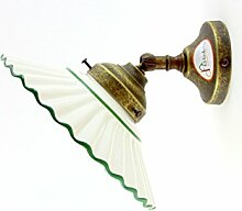 Wandleuchte Messing brüniert, Wandlampe, Wandleuchte für Innen Keramik Bad AN17.Abmessungen: Ausladung 16,5cm, Durchmesser Glas 19,5cm, Bodendurchmesser 8cm.Die Abmessungen sind inklusive des Glas. Lampenfassung Edison E14(Kleine Fassung).