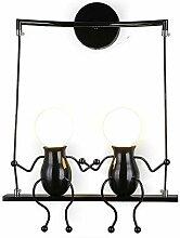 Wandleuchte Metall Wandlampe E27 Effektlampe
