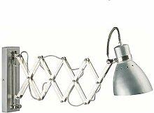 Wandleuchte mit Akkordeonarm Retro Wandlampe -