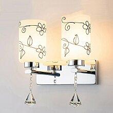 Wandleuchte mit Schalter am Bett Schlafzimmer Wohnzimmer TV Wandleuchte einfache, moderne und kreative Treppenhaus Flur Beleuchtung, EIN