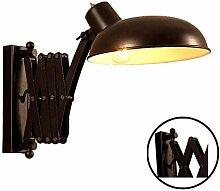 Wandleuchte mit Schalter, Schwarz Wandlampe