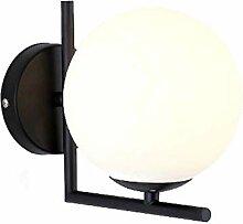 Wandleuchte, Modern Glas Wandlampe, mit Ball