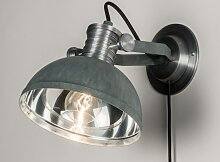 Wandleuchte Modern Industrielook Coole Lampen Grob Betongrau Grau