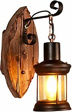 Wandleuchte Moderne Holz Wandlampe Landhaus Design