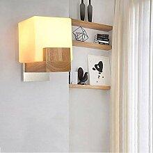 Wandleuchte Moderne kleine Wandlampe aus Holz