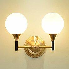Wandleuchte,Nachttischlampe Einfache kupferne